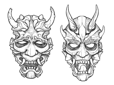 般若 tattoo sadness defender mask hannya
