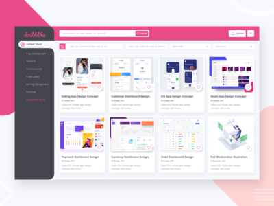 Dribbble Website Redesign Concept