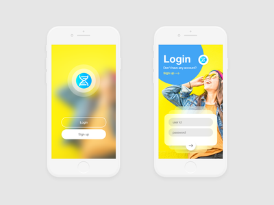 iOS Login Screen User Interface Design