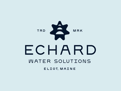 Logo lockups for Echard Water Solutions logo system monoweight illustration branding lockup icon water logo custom type identity design typography