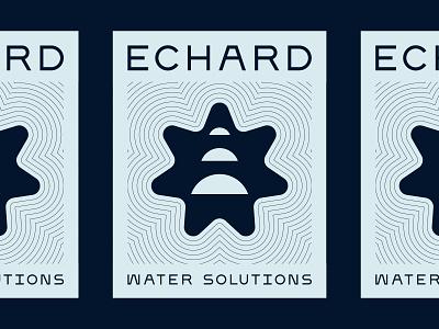 Poster for Echard Water Solutions branding identity design logo design typography pattern print poster poster design