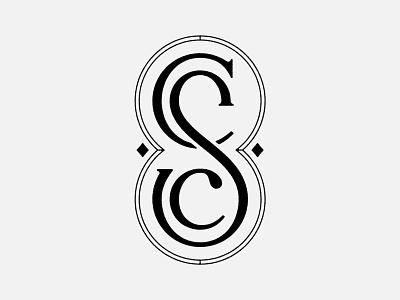 CSC Monogram custom type badgedesign badge type letters monogram lettering logo design typography