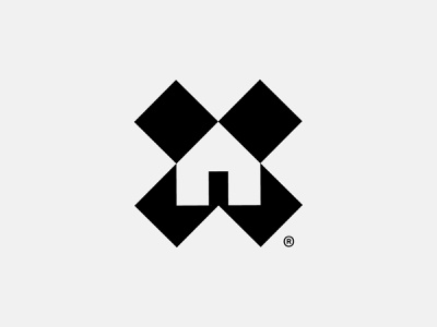 Logomark for Find Home. identity system identity find xmark home mark house logomark logo design