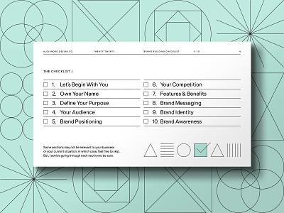 Your Brand Building Checklist checklist