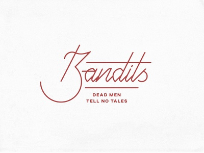 Bandits logotype script type logo design illustration lettering typography