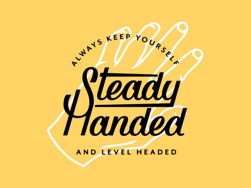 Steady - Handed dribbble logo design monoweight illustration custom type lettering typography
