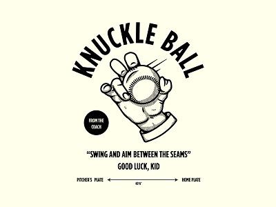 Knuckle Ball dribbble logo design monoweight illustration custom type lettering typography
