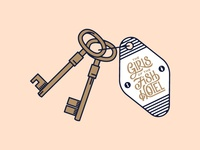 Fish Hotel room keys