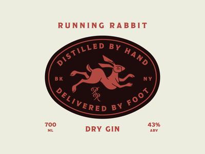 Running Rabbit Badge