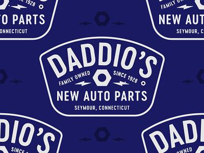 Daddios New Auto Parts auto parts car shop apparel design shirt design frank collective daddios badge design typography