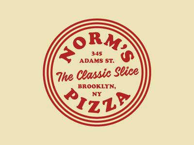 Norm's Pizza - Circle Badge