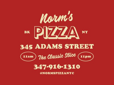 Norm's Pizza - Type Lockup