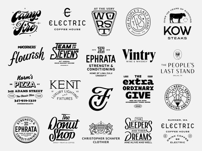 2019 Year in Review 2019 year in review branding identity design custom type monoweight illustration lettering logo design typography