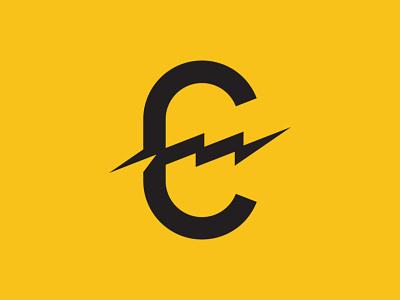 Electric Coffee Shop   Primary Mark sumner electric coffee house coffeeshop branding logo system typography identity design logomark logo design