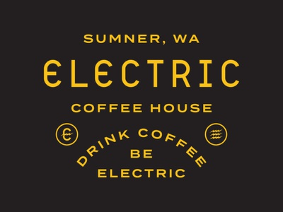 Electric Coffee House | Type Lockup electric coffee house lettering branding design identity design custom type logo design typelockup typography