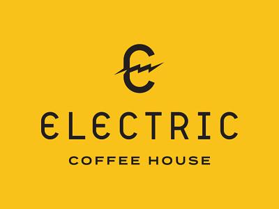 Electric Coffee House   Primary Logo Lockup sumner electric coffee house coffee shop typography lettering logo system branding identity design custom type logo lockup logo design