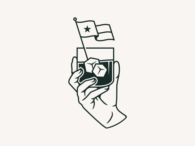 The People's Last Stand dallas the peoples last stand texas tx cheers drinking glass hand hand illustration dribbble identity design illustration