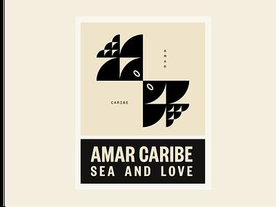 Amar Caribe vector typography modernism branding illustration design icon design symbol logo icon