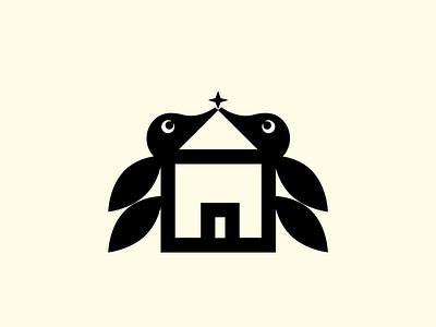 stayhome brand bird branding geometry animal illustration design icon design symbol logo icon