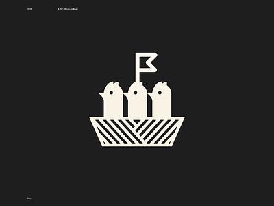 <º <º <º on boat simplicity logotype bird logo bird icon logo animal boat birds branding illustration geometry animal design icon design symbol logo icon