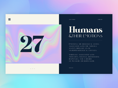 Humans | Visual creative direction cover branding graphic design landing page humanist art direction book page layout ui nikola obradovic design typography nature illustration web design product design science nature brain emotions human