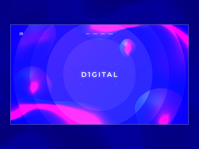 D1 Landing | abstract colorful deep landing page product page minimalistic 2020 illustration digital graphic design texture illustration visual branding nikola obradovic design uiux gradients flow futuristic modern webdesign product design