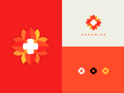 O R G A N I K A | Nature's Medicine flowers illustration symbol mark organic food organika print design logotype branding flower logo graphic design nikola obradovic design remedy organic doctor natural herbs flower apothecary medicine