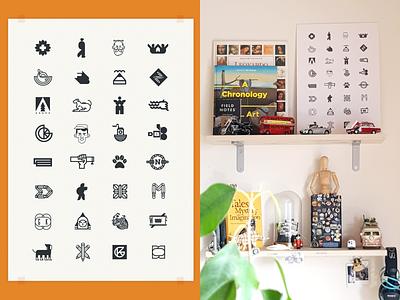Logomix | Work Station Print icon illustration typography monotone logotype serbia freelancer nikola obradovic design mark ui print design graphicdesign home office space work station branding logo print
