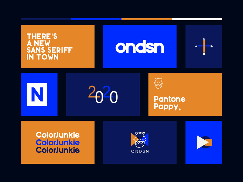 O N D S N | Visuals pt.II geomanist color junkie pantone pappy bold color colors layout logotype typography logo freelancer design studio nikola obradovic design visuals experiment art direction typography graphic design branding design visual identity 2020