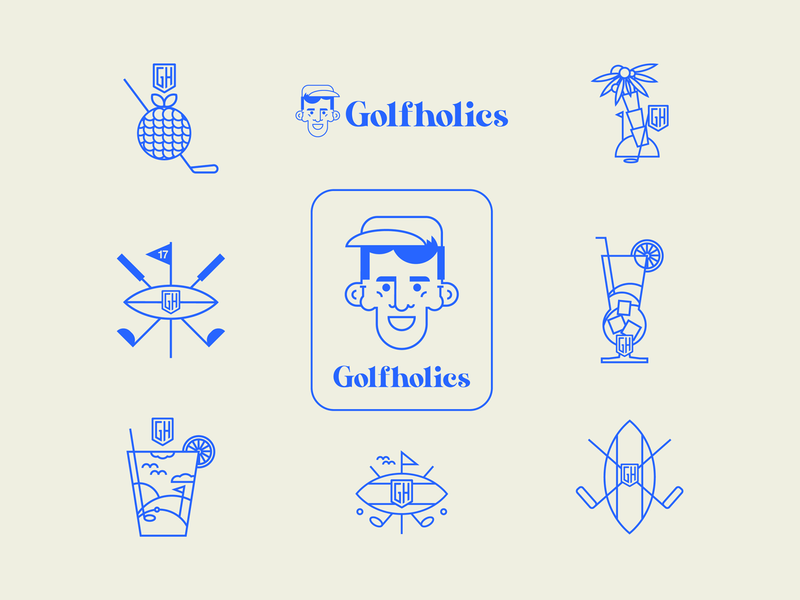 GH | Illustrations golf product designs visual identity sticker apparel graphics freelancer 2020 ondsn product design nikola obradovic design branding character design avatar print graphic design direction visual illustration embroidery