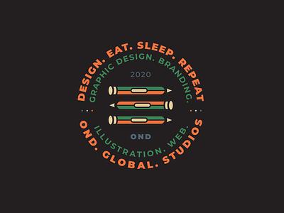 OND | Visuals II illustration visual design typography logo badge logo znacke nikola obradovic design ondsn colorful webdesign freelance vintage retro badge sticker avatar print design lockup branding graphic  design
