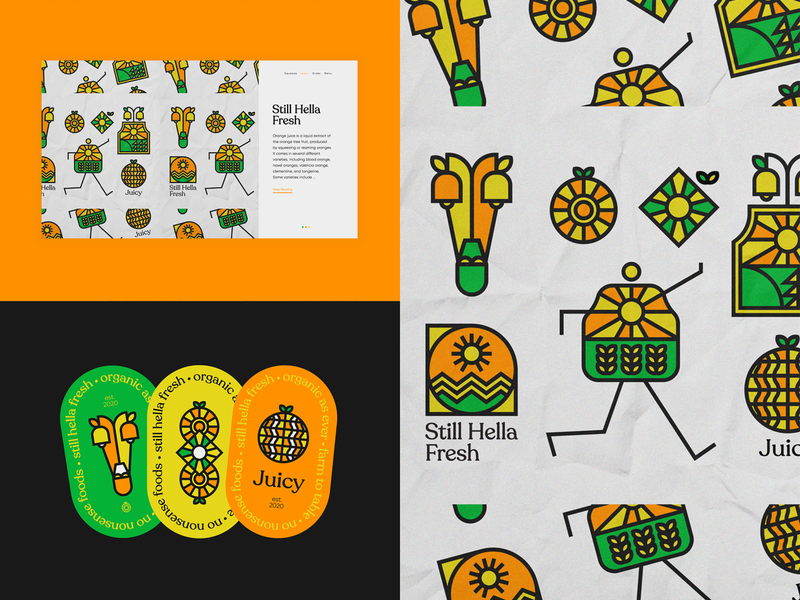 Still Hella Fresh | 2021 vector ui freelancer print design web design branding typography nikola obradovic design bold linear hat sticker patch 2021 graphic design orange nature juice still juicy hella fresh