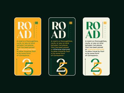 Road ® graphic design app design mobile app screen symbol illustration scroll web design typography nikola obradovic design colorful green branding uiux mobile ui freelance 2021 product design mobile app