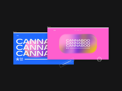 Cannaboo logo branding cannabis branding web design product design cannabis product freelancer 2021 nikola obradovic design ondsn graphic design sensory gradient surreal experience relax sleep treatment cbd thc cannabis