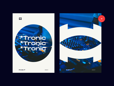 Tronic illustration product design print design nikola obradovic design bold modern dance typography logo 2021 logo ui branding graphic design freelancer marketing 2021 fortress digital festival music