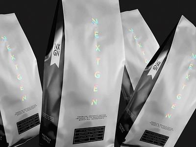 NXGN®   2021 logo brand guide typography print design graphic design nextgen coffee ondsn nikola obradovic design gradient holographic holo minimalistic simple modern food and beverage packaging design visual identity brand design branding coffee