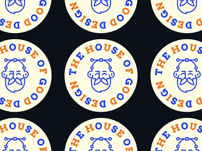 ONDSN | Stickers web head avatar face blue design logo illustration ondsn print design vector typography graphic design bold flat modern branding stickers nikola obradovic design