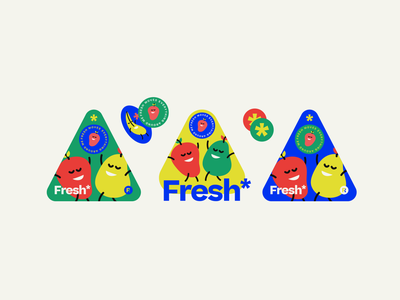 Fresh* human visuals visual identity typography vector branding web design graphic design nikola obradovic design ondsn red blue positive playful fun quirky character nature fruit fresh