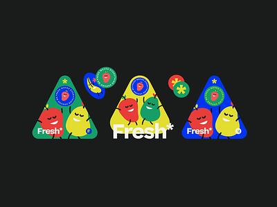Fresh** ux typography vector logo branding graphic design illustration happiness joy playful character health food good natural fruits fruity fresh ondsn2022 nikola obradovic design