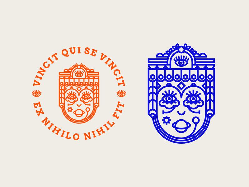 Ex Libris | wip badge illustration sticker design 2018 logo ond nikola obradovic design graphic branding vector fresh new weird crazy vintage book stamp latin ex libris