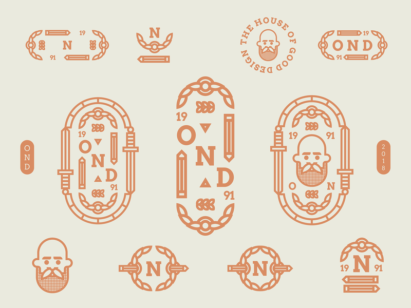 OND | Exploring playful typogaphy 2018 trends sticker stamps branding visual  identity brada golden award logotype mark badge bold illustration logo ond 2018 nikola obradovic design nikola obradovic
