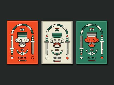 Print   Options v.2 versions colors poster ui magazine cover graphic design flat cyrilic brave serbian warrior soldier print vector typography badge illustration 2018 nikola obradovic design nikola obradovic