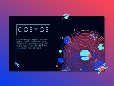 Cosmos | 2019 colors belgrade january gradient page layout web design planets orbit space creative direction ux  ui ux hero image interaction design user interface 2019 illustration logo nikola obradovic nikola obradovic design