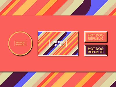 Hot Dog Republic | Visual Identity serbia freelancer marketing corporate 2018 2019 motion brand culture stationery ui  ux graphic design ond obradovic nikola visual identity branding restaurant branding logo restaurant fast food hot dog