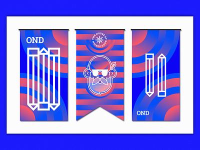 OND | Banners gradient flag marketing promo conference belgrade serbia 2019 freelancer branding agency visual direction app logo icon design branding illustration nikola obradovic design ond sticker