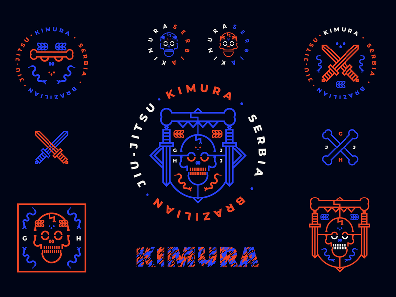 KIMURA BJJ | v.set apparel design ui art creative direction creative serbia freelance freelancer lockup 2019 vector branding logo nikola obradovic design graphic design martial arts ufc fight mma brazilian jiu jitsu kimura