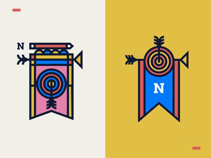 Archer's Flag marks badge logo apparel design web design app ui brand mark badge sport nikola obradovic location 2019 lockup branding freelance soldier warrior bow and arrow archer