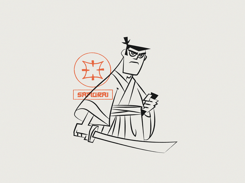 Samurai J europe serbia for hire warm up fun illo freelancer graphicdesign web designer illustration web design obradovic nikola design ond sketch linear fanart cartoon network cartoon samurai samurai jack