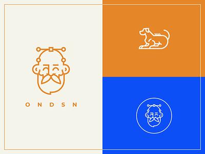 O N D S N | elmnts typography vector illustration logo logotype graphic design logo avatar visual identity freelancer branding design flat nikola obradovic design 2019 ondsn ridgeback hound dog branding graphicdesign