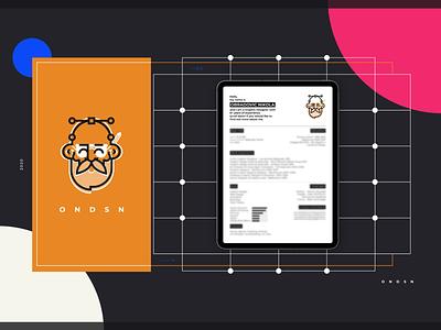 O N D S N | cv vector graphic design logo illustration fresh bold 2020 nikola obradovic design ondsn branding graphic design freelance design freelancer serbia ui app webdesign web page portfolio bio cv